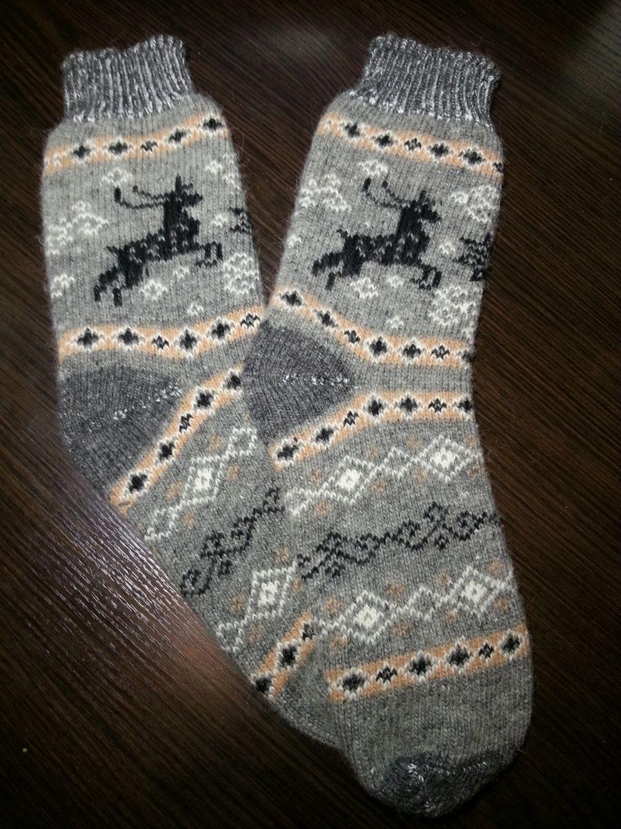 Носки мужские шерстяные с Оленем